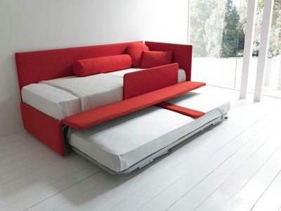 Line by bolzan divano letto singolo con secondo letto o con contenitore cassetti salvaspazio e - Divani letto salvaspazio ...