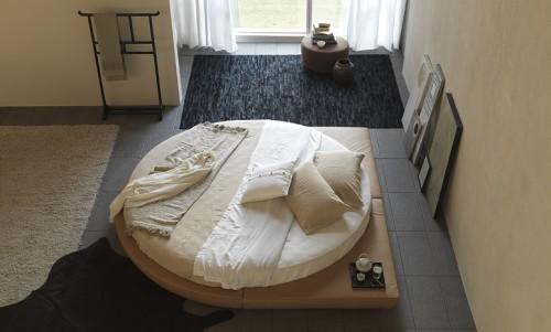 letto, letti, letto rotondo, letto tondo, letto contenitore, letto imbottito, lmaterasso rotondo, lenzuola per letto rotondo