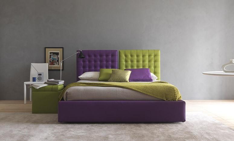 Un letto imbottito con contenitore coloratissimo - Materasso letto contenitore ...