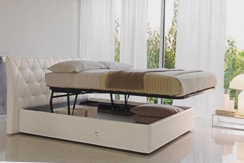 letto rigo salotti,rigo salotti,letto imbottito,letto salvaspazio,letto tessile,letto pelle