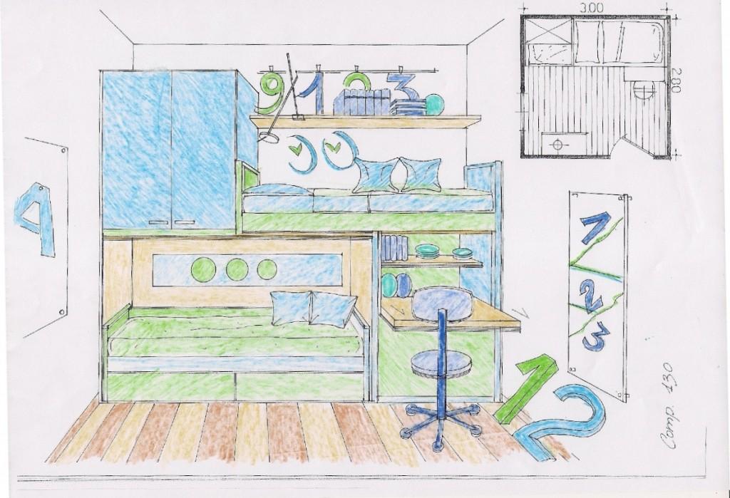 stampa e colora la tua cameretta letto libreria