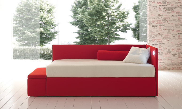 Letto con secondo letto estraibile letto e materasso - Divano letto singolo con contenitore ...